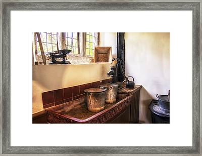 Victorian Kitchen Framed Print by Georgia Fowler