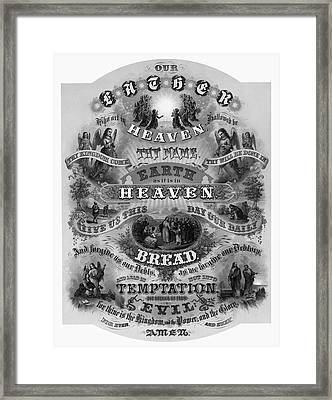 Victorian Lords Prayer Framed Print by Daniel Hagerman