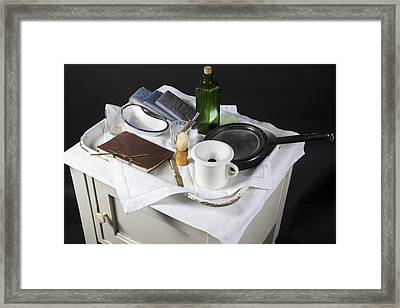Victorian Medical Equipment Framed Print by Science Photo Library