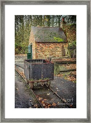 Victorian Mining Cart Framed Print by Adrian Evans