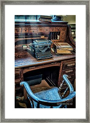 Victorian Office Framed Print by Adrian Evans