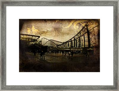 Victorian Roller Coaster - Circa 2014 Framed Print by Doc Braham