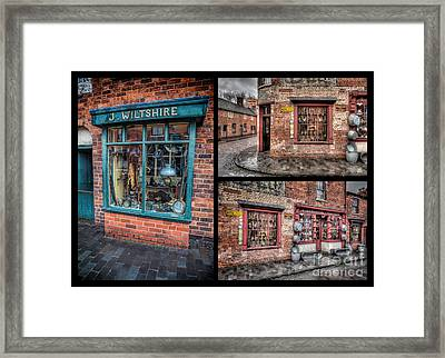 Victorian Shops Framed Print by Adrian Evans