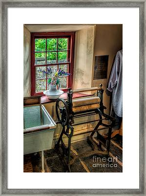 Victorian Wash Room Framed Print by Adrian Evans