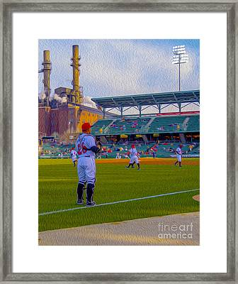 Victory Field Catcher 1 Framed Print by David Haskett