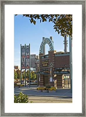 Victory Field Indianapolis Framed Print by Devinder Sangha