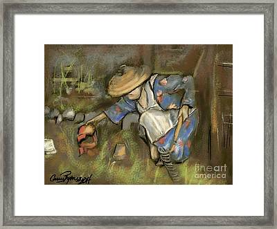 Victory Garden Queens Ny Forties Framed Print by Carrie Joy Byrnes
