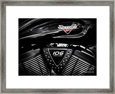 Victory Monochrome Framed Print by Tim Gainey