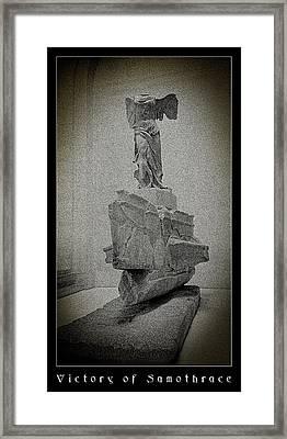 Victory Of Samothrace Framed Print by Weston Westmoreland