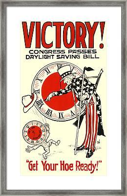 Victory Poster Framed Print by Jon Neidert