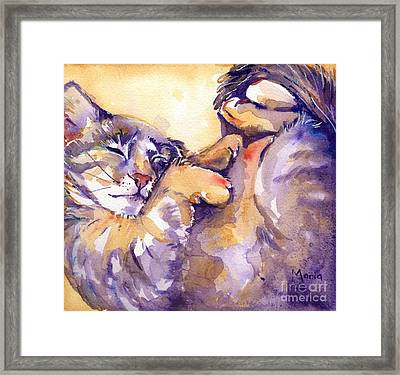 Vida Framed Print by Maria's Watercolor