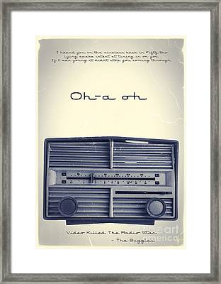 Video Killed The Radio Star Framed Print by Edward Fielding