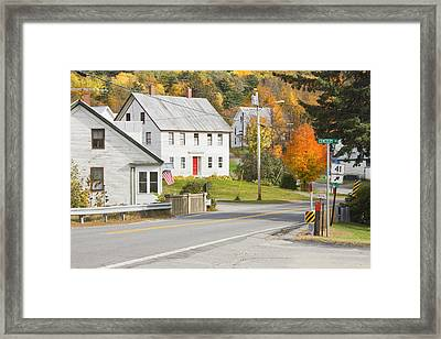 Vienna Maine In Fall Framed Print by Keith Webber Jr