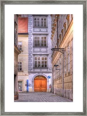 Vienna  Mozarthaus Framed Print by Juli Scalzi