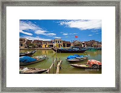 Vietnamese Boats In Hoi An Vie Framed Print by Fototrav Print