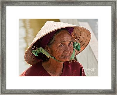 Vietnamese Lady Framed Print by Rick Piper Photography