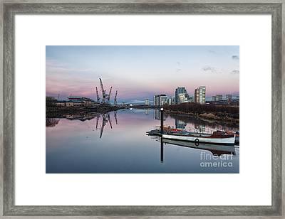 View Down The Clyde. Framed Print by John Farnan