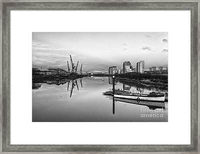 View Down The Clyde Mono Framed Print by John Farnan