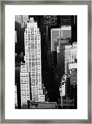 View Down Towards Fifth 5th Avenue Ave New York City Streets Framed Print by Joe Fox