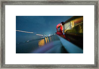 View From A Water Taxi As It Makes Framed Print by Stephen Alvarez