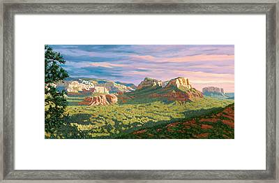 View From Airport Mesa - Sedona Framed Print by Steve Simon