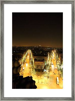 View From Arc De Triomphe - Paris France - 01131 Framed Print by DC Photographer