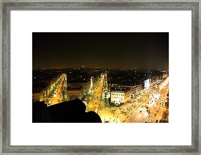 View From Arc De Triomphe - Paris France - 011316 Framed Print by DC Photographer