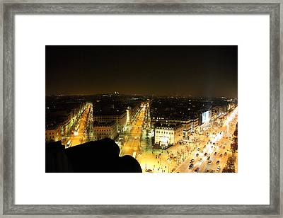 View From Arc De Triomphe - Paris France - 011317 Framed Print by DC Photographer