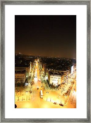 View From Arc De Triomphe - Paris France - 01133 Framed Print by DC Photographer