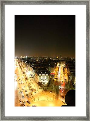 View From Arc De Triomphe - Paris France - 01138 Framed Print by DC Photographer