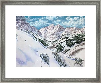 View From Aspen Highlands Framed Print by Jill Westbrook
