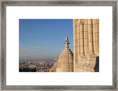 View From Basilica Of The Sacred Heart Of Paris - Sacre Coeur - Paris France - 01131 Framed Print by DC Photographer