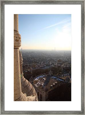 View From Basilica Of The Sacred Heart Of Paris - Sacre Coeur - Paris France - 011310 Framed Print by DC Photographer