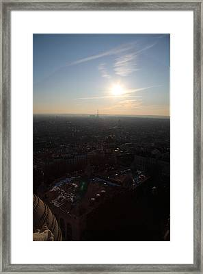View From Basilica Of The Sacred Heart Of Paris - Sacre Coeur - Paris France - 011311 Framed Print by DC Photographer