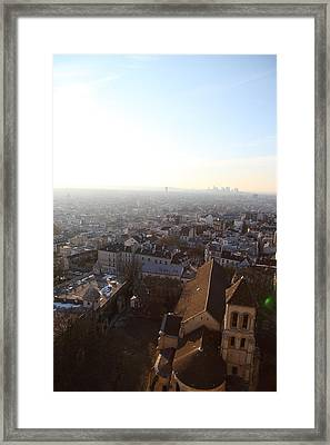 View From Basilica Of The Sacred Heart Of Paris - Sacre Coeur - Paris France - 011316 Framed Print by DC Photographer