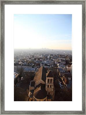 View From Basilica Of The Sacred Heart Of Paris - Sacre Coeur - Paris France - 011318 Framed Print by DC Photographer