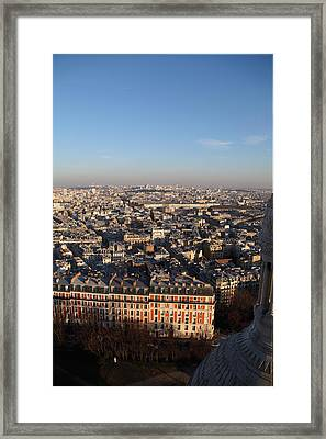 View From Basilica Of The Sacred Heart Of Paris - Sacre Coeur - Paris France - 011330 Framed Print by DC Photographer