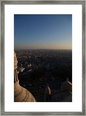 View From Basilica Of The Sacred Heart Of Paris - Sacre Coeur - Paris France - 011335 Framed Print by DC Photographer