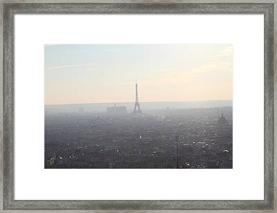 View From Basilica Of The Sacred Heart Of Paris - Sacre Coeur - Paris France - 01137 Framed Print by DC Photographer