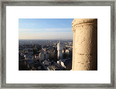 View From Basilica Of The Sacred Heart Of Paris - Sacre Coeur - Paris France - 01138 Framed Print by DC Photographer