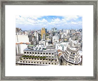 View From Edificio Martinelli - Sao Paulo Framed Print by Julie Niemela