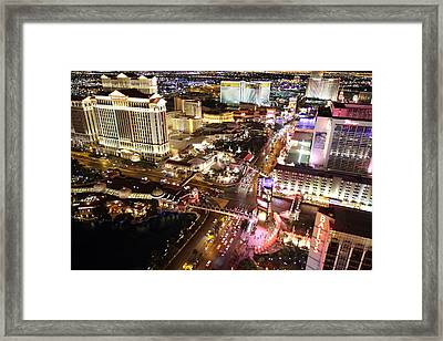 View From Eiffel Tower In Las Vegas - 01131 Framed Print by DC Photographer