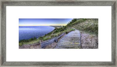 View From Empire Bluff Framed Print by Twenty Two North Photography