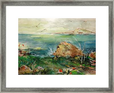 View From Greenpoint Condo Framed Print by Mary Spyridon Thompson