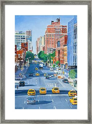 View From Highline New York City Framed Print by Anthony Butera
