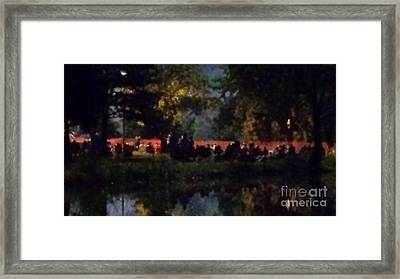 View From Lakes Edge Framed Print by Paddy Shaffer