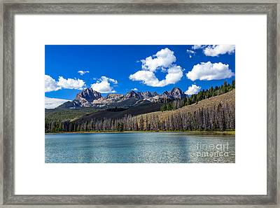 View From Little Redfish Lake Framed Print by Robert Bales