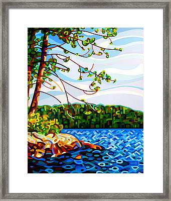 View From Mazengah Framed Print by Mandy Budan