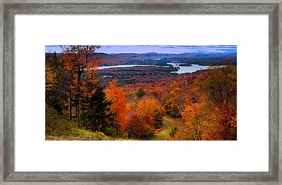 View From Mccauley Mountain II Framed Print by David Patterson