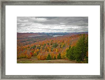 View From Mccauley Mountain Iv Framed Print by David Patterson